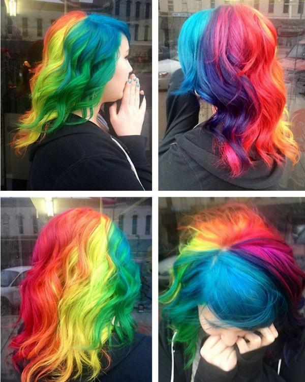 cabelo arcoiris