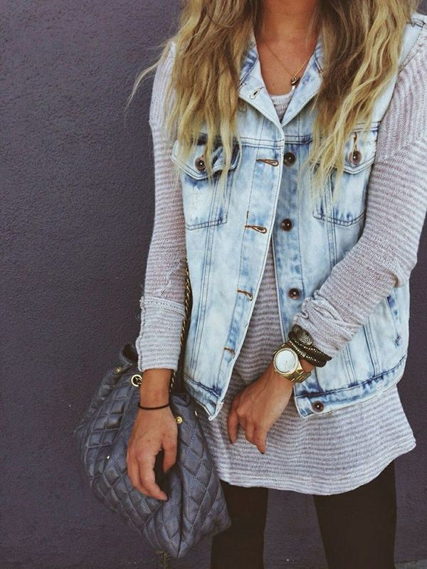 chaleco jeans