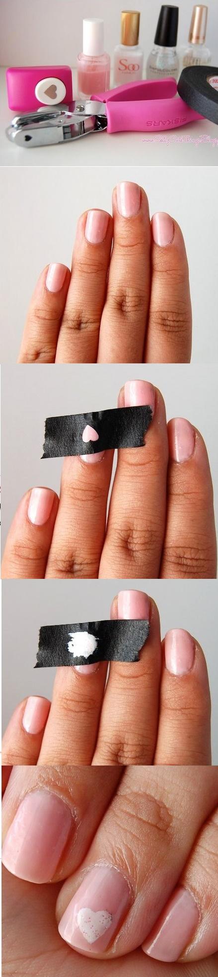 cinta adhesiva uñas