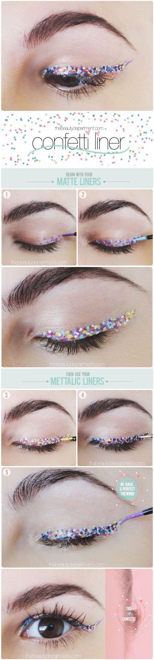 confeti maquillaje