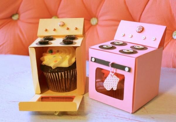 cupcake caja horno