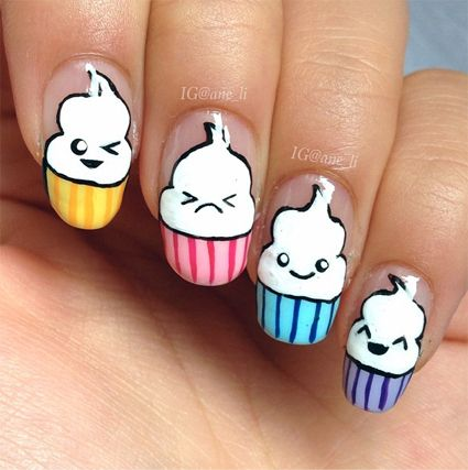 Yo sé que deseas con todas tus fuerzas un diseño así uñas kawaii