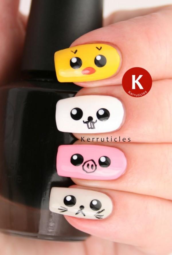 diseños japoneses uñas
