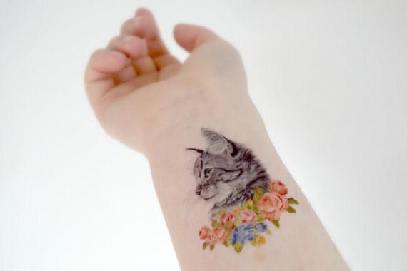 gato tatuaje