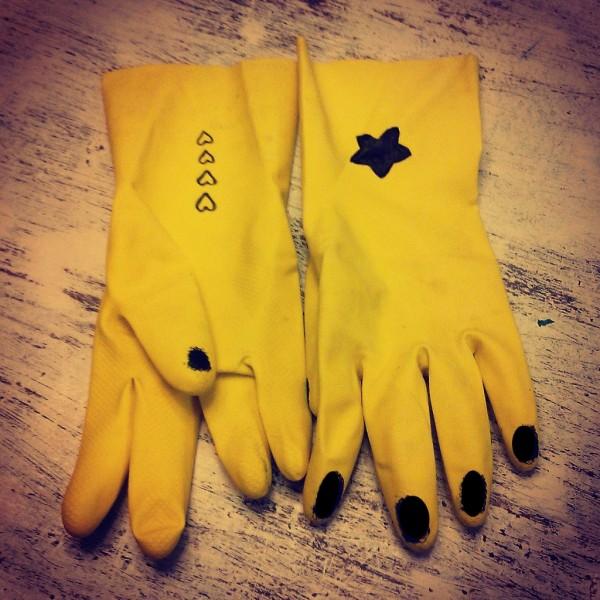 guantes plastico