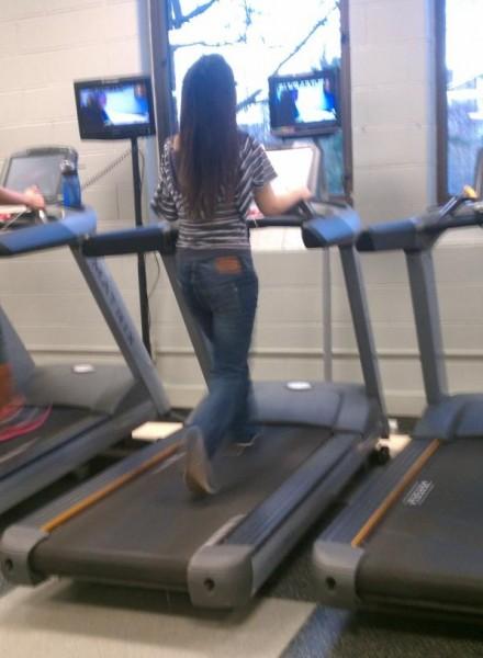 jeans en el gym
