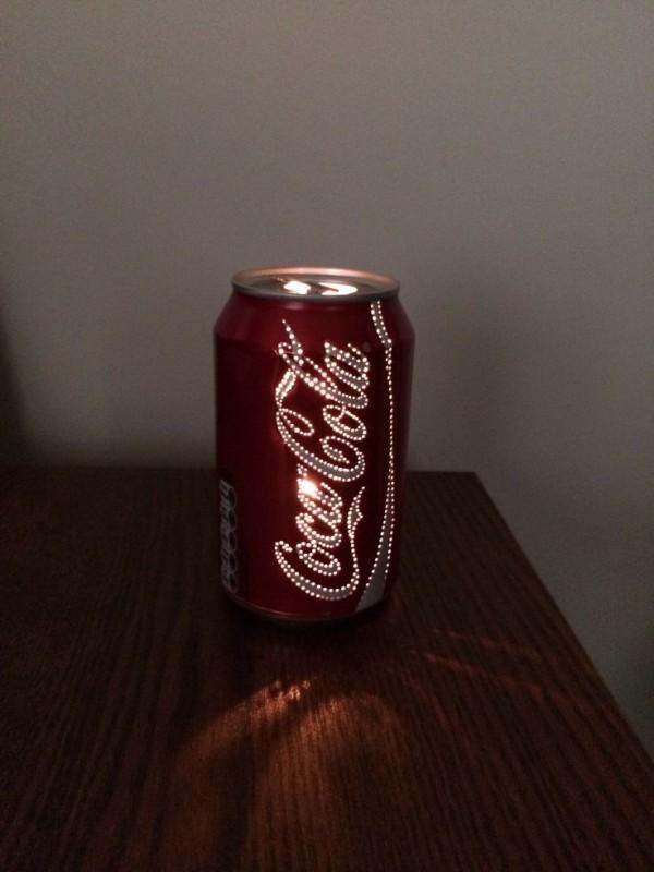 lampara con una lata