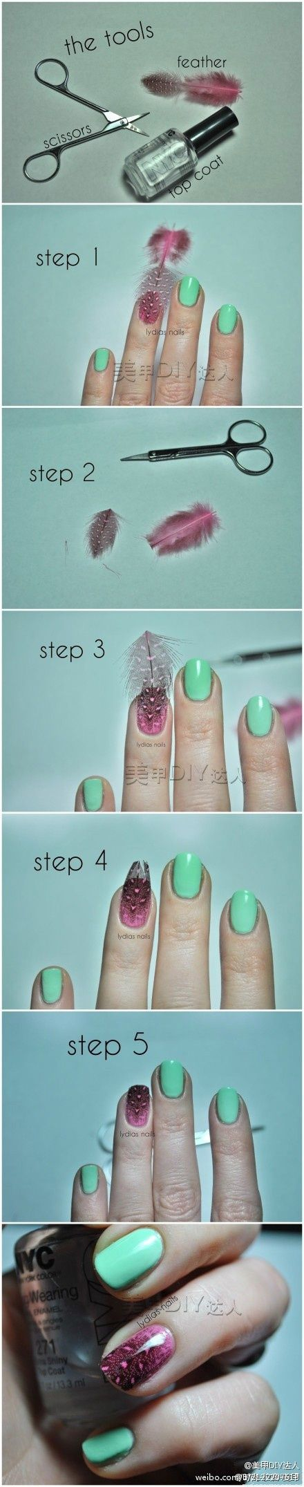manicure plumas