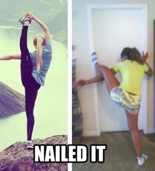 mujer flexible