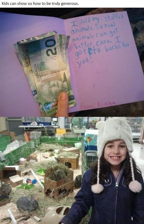 niños generosos