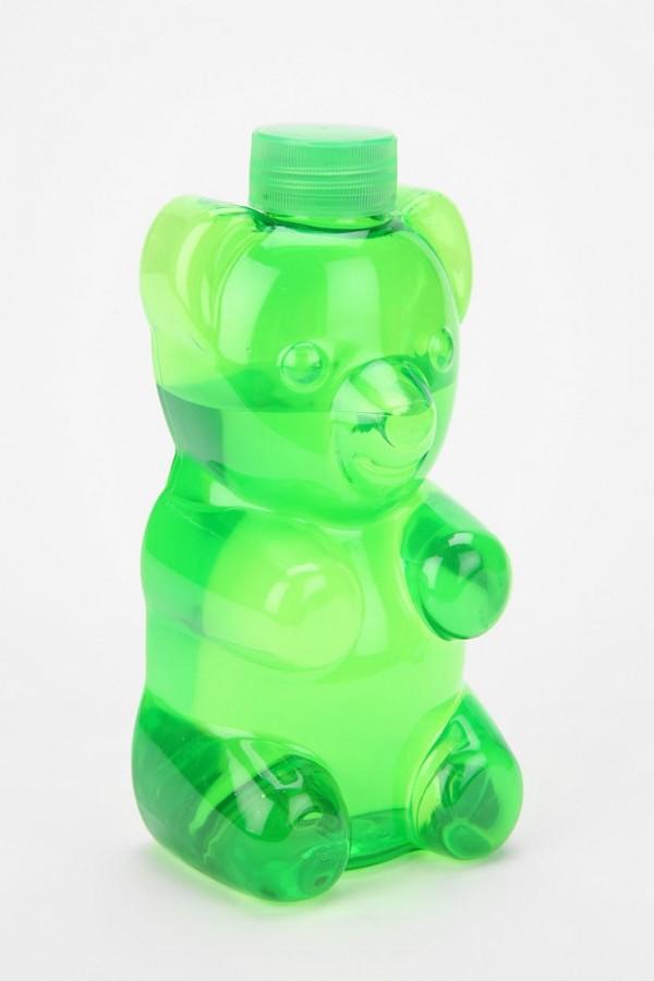 osito de gomita botella
