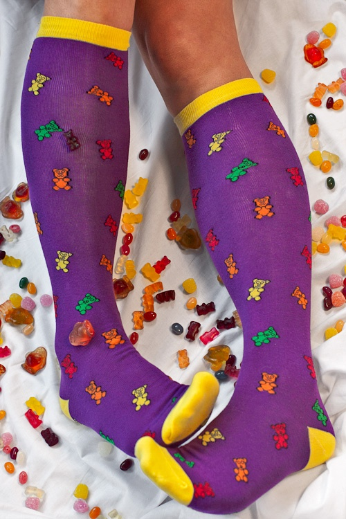 osito de gomita calcetines
