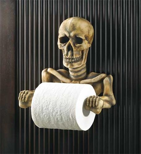 papel de baño calavera