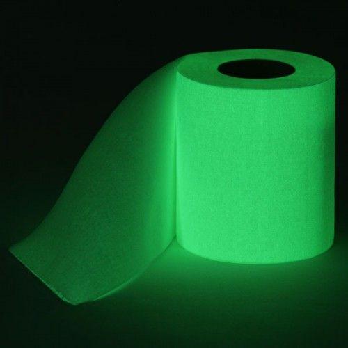 papel de baño luminicente