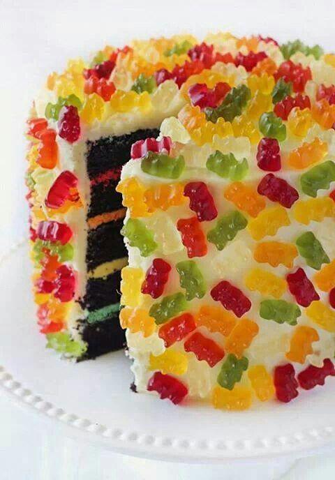 pastel de gomitas