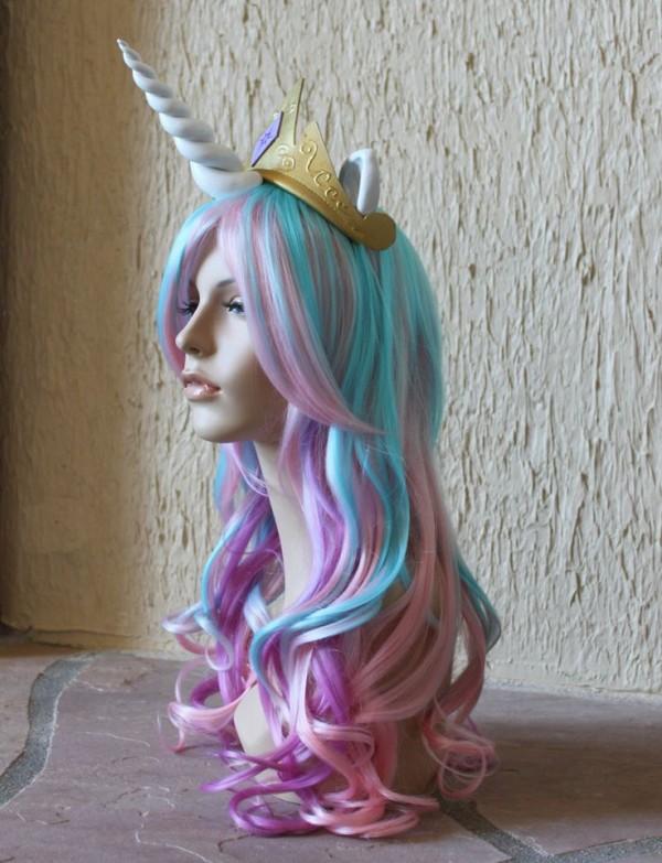 peluca unicornio