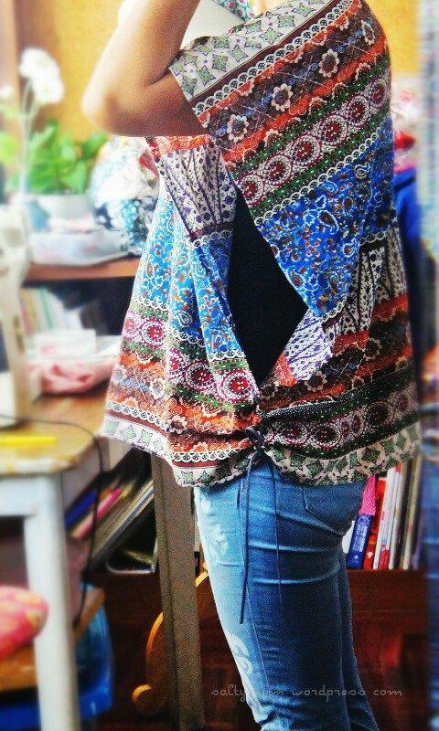 poncho blusa