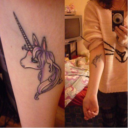 tatuaje unicornio brazo