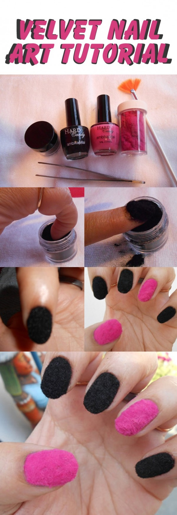 terciopelo uñas