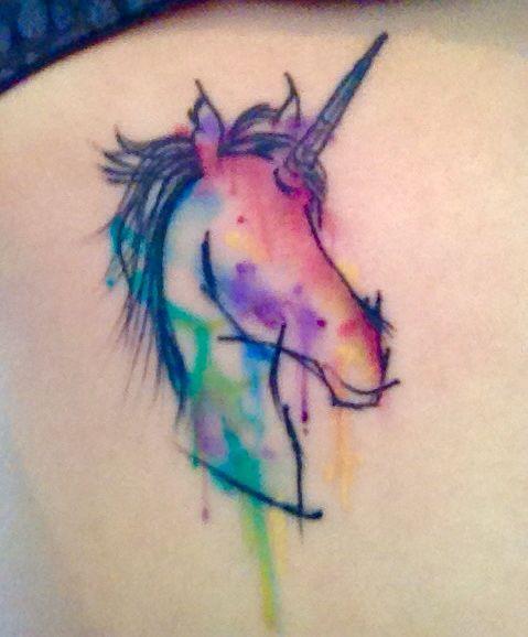 unicornio acuerela
