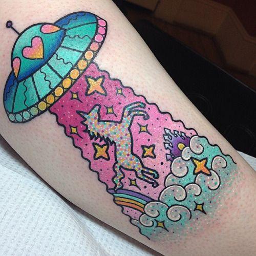 unicornio tatuaje