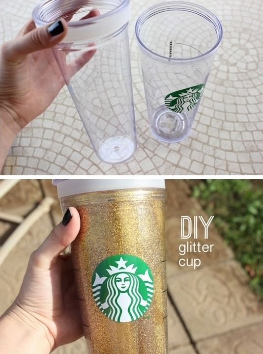vaso glitter