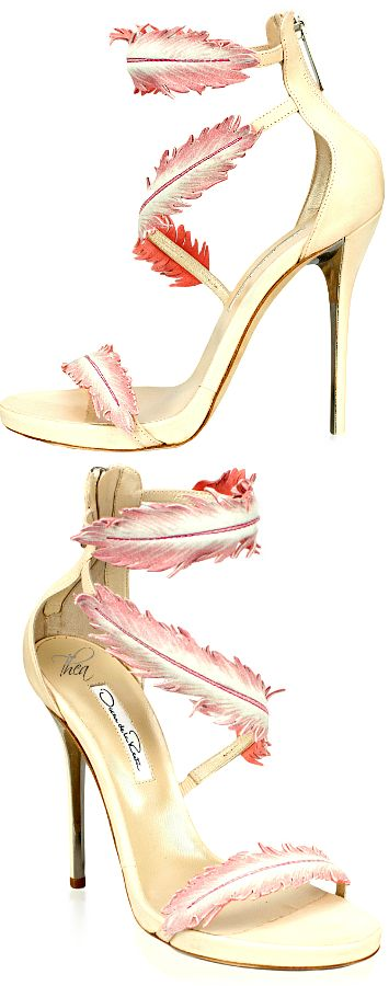 zapatos plumas