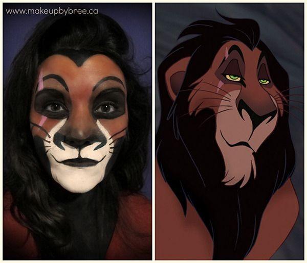 Scar Halloween makeup