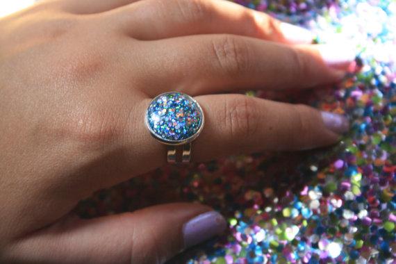 anillo glitter