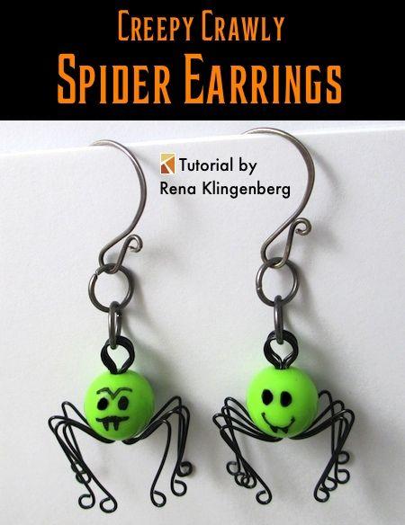 aretes araña