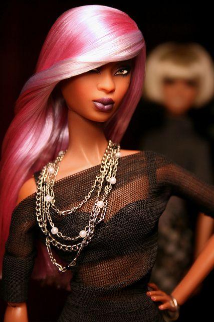 barbie cabello rosa