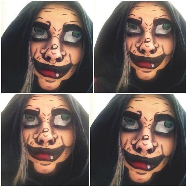 bruja maquillaje