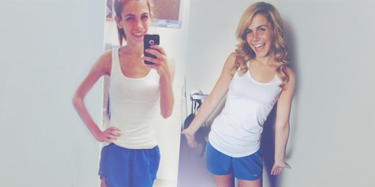 15 Chicas demasiado delgadas que transformaron su cuerpo