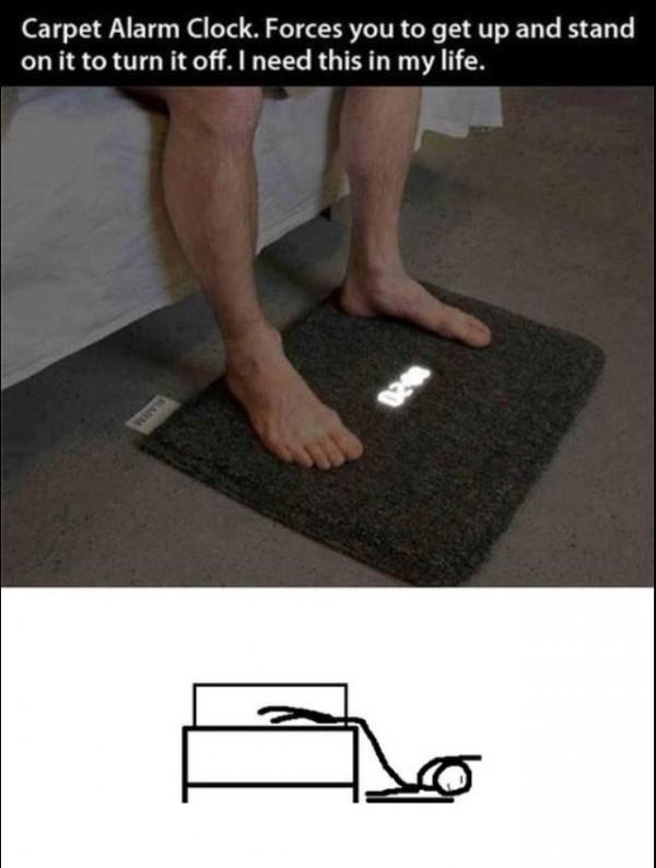 despertador tapete