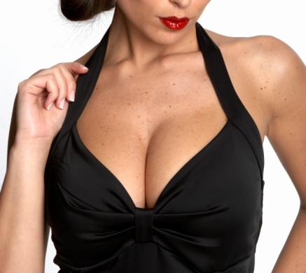 Sexy womans neckline