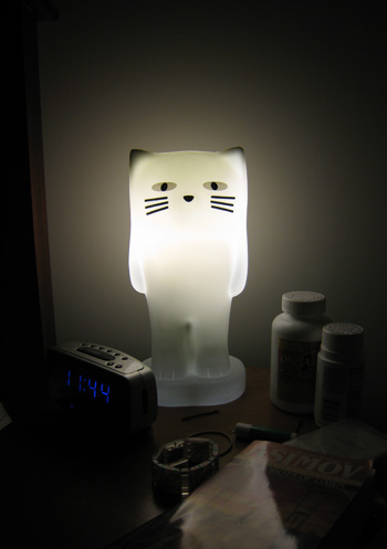 gatito lampara