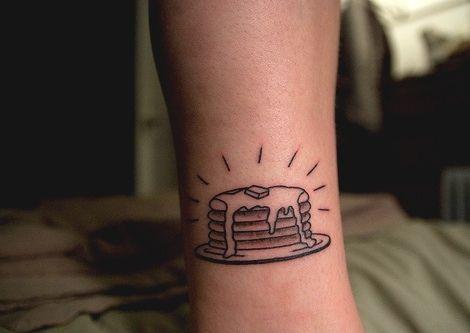 hot cake tattoo