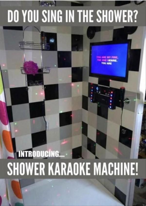karaoke en la ducha