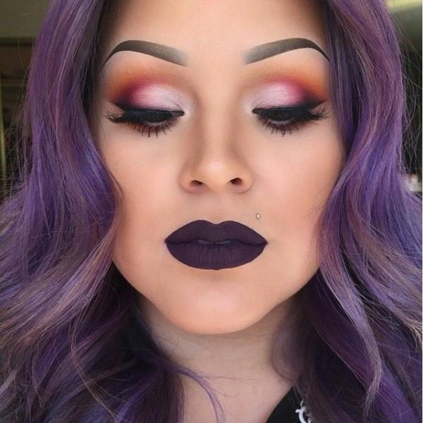makeup purple