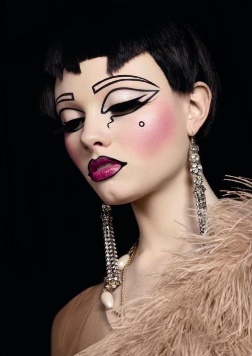 maquillaje caricatura