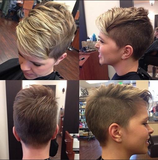 mujer cabello-corto