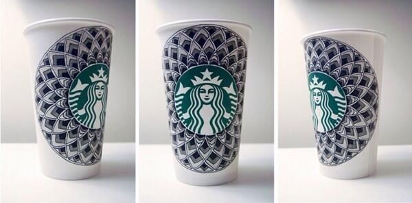 starbucks vaso arte