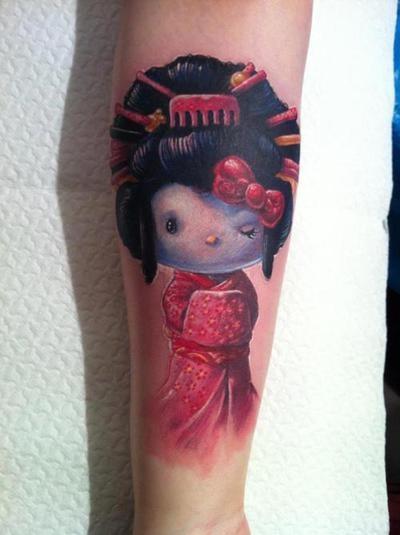 tatuaje 3d hello kitty