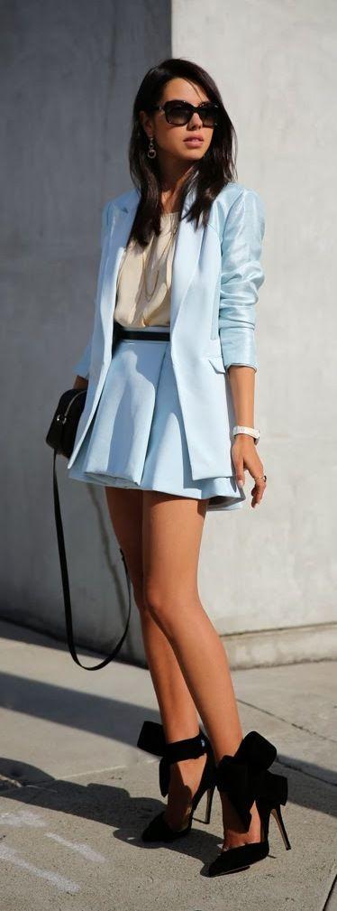 traje azul