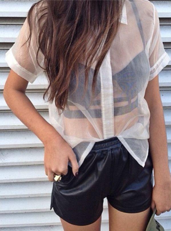 transparente blusa