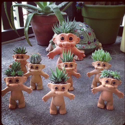 trolls macetas
