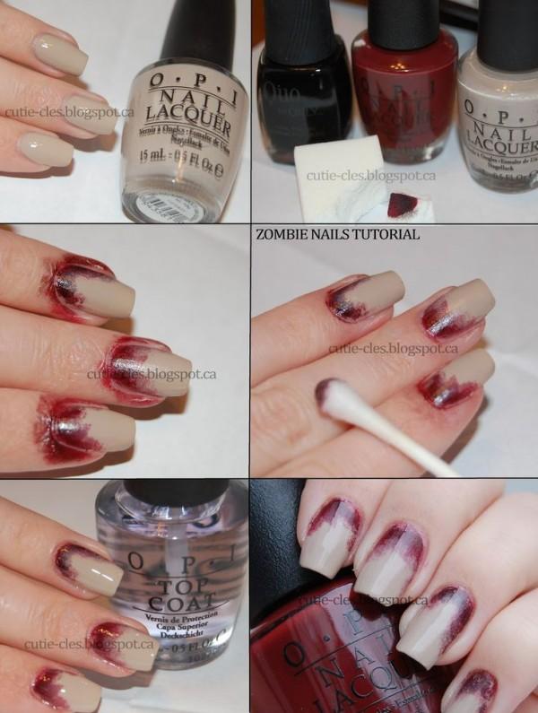 uñas sangre