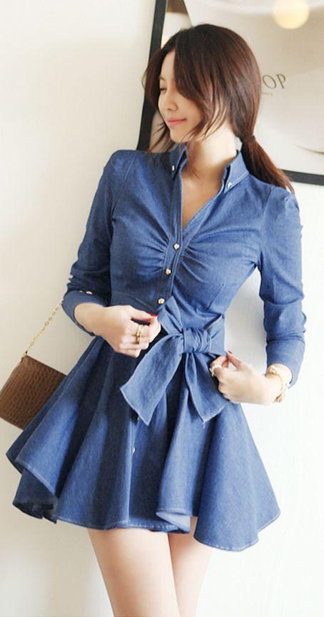 vestido mezclilla