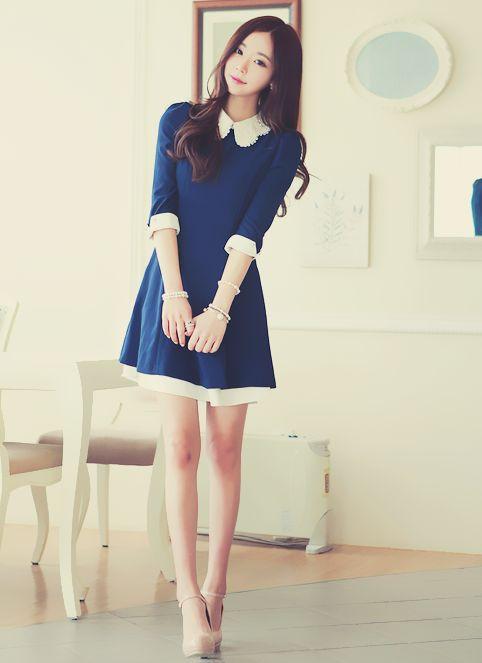 vestido zul