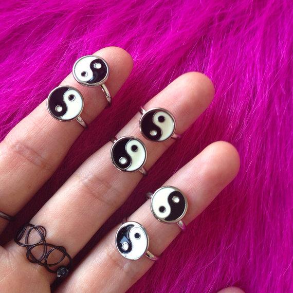 ying yang anillo